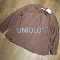 """Thumbnail of """"お値下げ✧*【新品】UNIQLO♡大きいサイズドット柄ブラウス"""""""