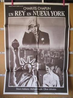 "Thumbnail of ""チャップリン主演作!映画『ニューヨークの王様』スペイン版ポスター!コメディ古典"""
