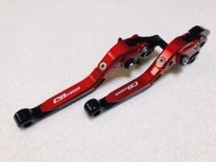 """Thumbnail of """"CB1300用 可倒式左右レバーセット レッド/ブラック"""""""