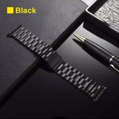 "Thumbnail of ""Apple Watch ベルト ステンレス製 シンプル42mm 黒"""