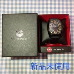 "Thumbnail of ""【美品】【半額】TECHNOS 時計 ブラック"""