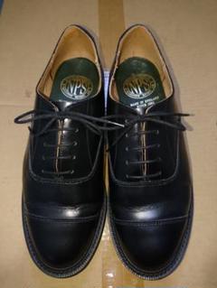 "Thumbnail of ""英国製NPS内羽キャップトゥ革靴UK7.5サービスシューズSANDERS"""