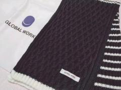 "Thumbnail of ""GLOBAL WORK グローバルワーク ネイビー系 マフラー 防寒"""