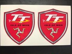 """Thumbnail of """"マン島TT ISLE OF MAN シールド型ステッカー【レッド】 2枚セット"""""""