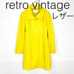 "Thumbnail of ""W2471*vintage 個性派 ロングレザーコート 黄イエロー"""