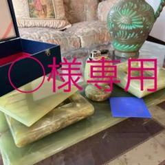"""Thumbnail of """"r193 未使用品‼ 高級オニキス応接セット シガレットセット 天然大理石"""""""