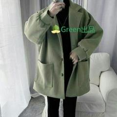 "Thumbnail of ""厚手のウールのコートの男性の潮英国スタイルのウールのコートの韓国緩いq3"""