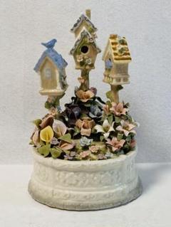 "Thumbnail of ""( 美品 )COSMOS 陶器製 Birdhouse Garden オルゴール"""