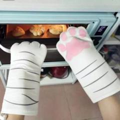 """Thumbnail of """"3Dかわいい猫の手 ミトン 手袋 鍋つかみ キッチン用品 オーブングローブ"""""""