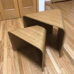 """Thumbnail of """"無印良品 MUJI 重なるテーブルベンチ 成型合板 オーク材"""""""