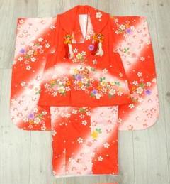 """Thumbnail of """"七五三やお祝い着に 3歳女の子用 被布コート(着物)セットh4263【中古】"""""""