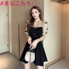 """Thumbnail of """"【春限定】ワンピース フレンチ リボン 網タイツ スリム ブラック ドレス6"""""""