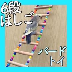 "Thumbnail of ""j204【新品】インコ オウム 鳥 小動物 はしご おもちゃ 木製 ビーズ 文鳥"""