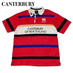 "Thumbnail of ""CANTERBURY カンタベリー ラガーポロシャツ レッド XL ラグビー"""