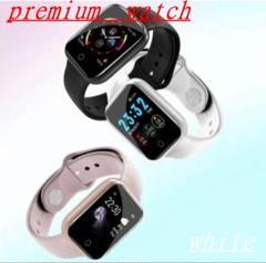 【新品】premium watch デジタル時計 白 ◇