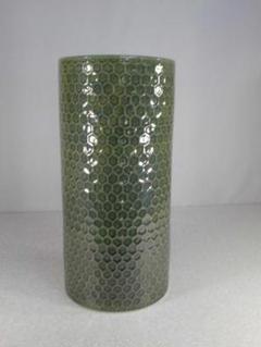 """Thumbnail of """"送料無料!陶器製傘立て、ハニカムグリーン、輝いて綺麗な緑、小難あり5-45"""""""