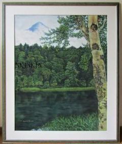 "Thumbnail of ""パステル画「静かな湖」(F30号)V"""