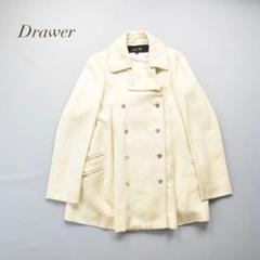 "Thumbnail of ""Drawer リネンシルク ダブルジャケット ピーコート ホワイト"""