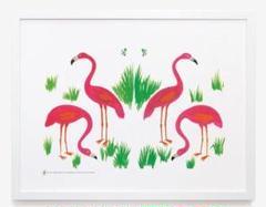 """Thumbnail of """"希少!ブルーノ・ムナーリ  munari額装用プリント「Flamingos」!"""""""