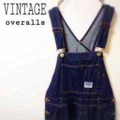"Thumbnail of ""【VINTAGE】刺繍 インディゴ デニム オーバーオール サロペット 古着"""
