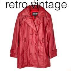 "Thumbnail of ""W2783*vintage 個性派 レザーコート 赤レッド M"""