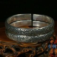 "Thumbnail of ""S925男性純銀ブレスレット ネパールのチベット族の純正な手工芸の銀の飾り4"""