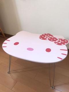 "Thumbnail of ""【サンリオ】ハローキティ キティちゃん 折り畳み 顔型 テーブル"""