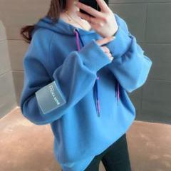 "Thumbnail of ""SALE☆韓国 オルチャン レディースパーカー XL 青"""