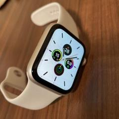 "Thumbnail of ""Apple Watch Series4 44mm シルバー スポーツバンド 白"""