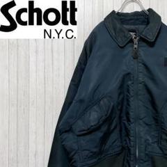 "Thumbnail of ""schott ショット フライトジャケット 刺繍ロゴ モスグリーン ジップアップ"""