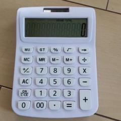 "Thumbnail of ""電卓 白 計算機 シンプル 文房具 オフィス 計算"""