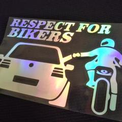 """Thumbnail of """"Respect for bikers(バイク右) ステッカー プリズム 新品"""""""