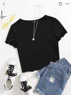 """Thumbnail of """"SHEIN 平野 Tシャツ へそ出し Tシャツ 黒"""""""