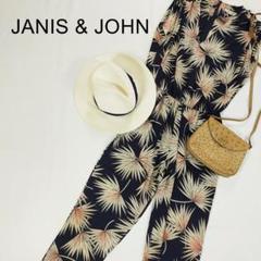 "Thumbnail of ""ジャニス&ジョン オールインワン 総柄 ネイビー 紺色 ノースリーブ とろみ"""
