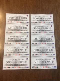 "Thumbnail of ""10枚 5000円分 ヴィア・ホールディングス 株主優待券"""