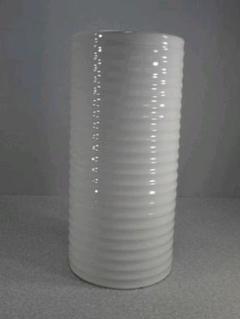 """Thumbnail of """"送料無料!陶器製、傘立て。サイドストライプ、輝いて綺麗な白、少難あり5-44"""""""