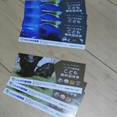"Thumbnail of ""のとじま水族館 いしかわ動物園 子供無料招待券各3枚"""