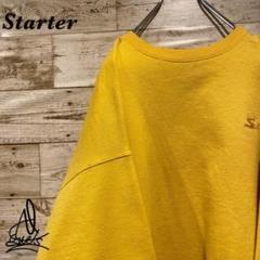 "Thumbnail of ""《肉厚》Starter スターター スウェット L☆イエロー 黄色 刺繍ロゴ"""