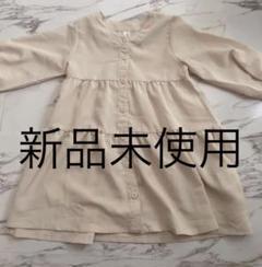 "Thumbnail of ""ティアード ワンピース 新品未使用 90 ベージュ ベビー 無地 トップス"""
