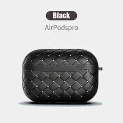 "Thumbnail of ""レザー調 Airpods Pro ケース カバー 黒 MA0303PROBK"""