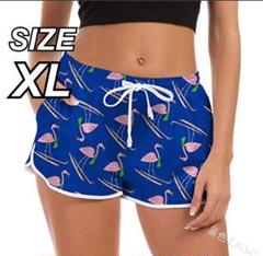"Thumbnail of ""♡フラミンゴ柄♡ 【サーフパンツ】 水着 ショートパンツ 体型カバー XL"""