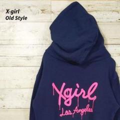 "Thumbnail of ""《バックビッグロゴ》X-girl☆エックスガール☆プルオーバー☆ネイビー☆S"""