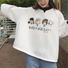 "Thumbnail of ""レディース キャラ キャラクター プリント 犬 春 春服 韓国 ホワイト 白g"""