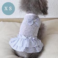 "Thumbnail of ""犬服 春夏 シースルーフリルワンピース♡リボンのアクセントが可愛い XSサイズ"""