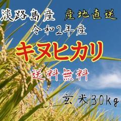 "Thumbnail of ""新米 令和2年産 キヌヒカリ 玄米30キロ 淡路島産"""