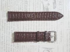 "Thumbnail of ""幅22mm  クロコダイル柄 渋い茶 腕時計ベルト 皮革『上級』"""