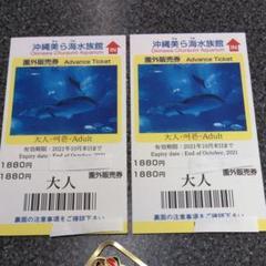 "Thumbnail of ""沖縄 美ら海水族館 チケット 券 大人 2枚 おまけ付き"""
