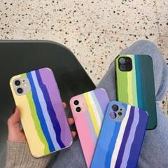 """Thumbnail of """"ストライプ  iPhone12  ケース  紫色"""""""