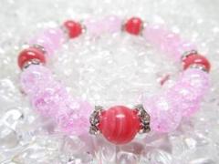 """Thumbnail of """"★【インカローズ×ピンククラック水晶】 天然石ブレスレットパワーストーン"""""""