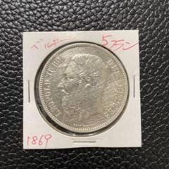 """Thumbnail of """"1869年 硬貨 ベルギー 5フラン"""""""
